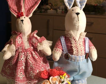 HARES Boy and Girl handmade toy