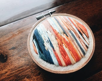 "Embroidery Hoop Art, ""Bonfire"""