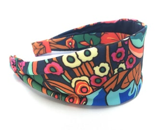 Floral Reef, colourful, wide fabric headband, women's headband, gift for her, aliceband