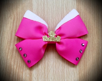 Aroura Sleeping Beauty Pink Princess Disney Character Inspired Pink Hair Bow