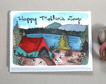 Mother's Day Card - Camping Mother's Day Card - Blank Mother's Day Card - Camping Card - Card for Mom - Great Outdoors Mother's Day