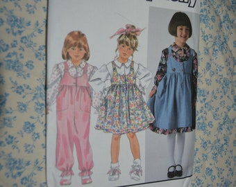 Simplicity 9792 Girls Childs Jumper Jumpsuit and Blouse Sewing Pattern - UNCUT  - Size  2 - 6X