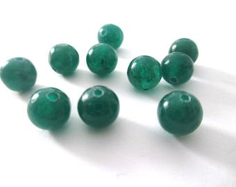 10 pearls dark green natural jade 8mm (24)