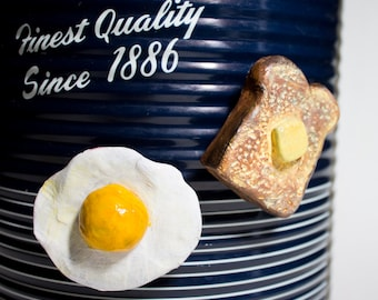 Eggs and Toast magnet set