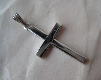 Cross Sterling Pendant Vintage 925 Silver Christian