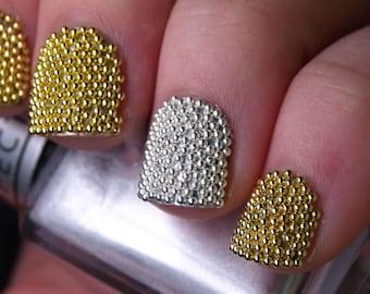 Nails Art 20000 Gold Caviar Metallic Studs