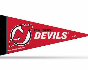 """New Jersey Devils Licensed NHL Mini Pennants, 4"""" x 9"""""""