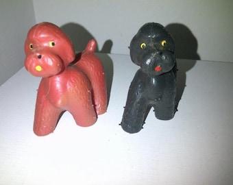 Vintage Poodle Mini Squeak Toys Marked Germany West