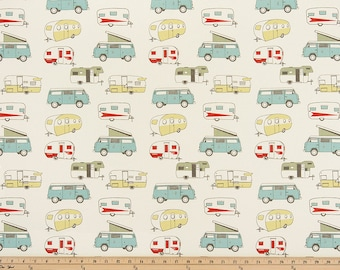 """Retro Vintage Camper Fabric by the yard Premier Prints Formica  Macon Fabric Yardage Home Decor Fabric 54"""" Wide Upholstery Fabric"""