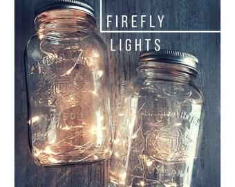 Wedding, Fairy lights, Rustic Wedding Decor, Wedding Centerpiece Lights, Mason Jar Lighting, Copper Wire Lights, Battery included *No Jar
