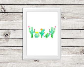 cactus art print - cactus print - watercolor cactus - cactus watercolor - cactus art - cactus decor - cactus home decor - cactus artwork