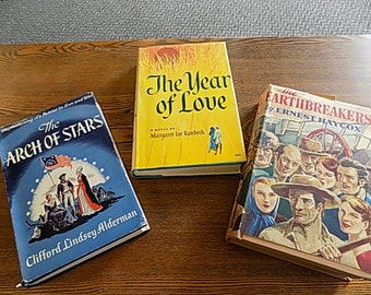 3 Vintage Retro Books - Romance - Cool Covers
