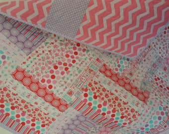 Super Simple Jelly Roll Lovey Dovey Baby Quilt Pattern Tutorial