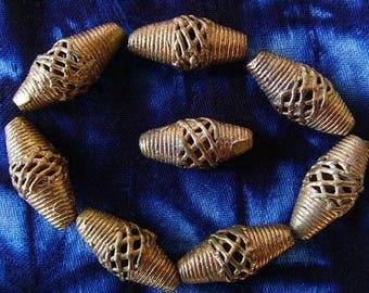 8 beads African brass BB26