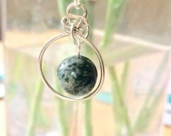 Black Labradorite Pendant Necklace