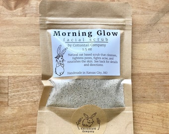 Morning Glow Cleansing Grains / Organic Facial Cleanser / Natural Face Wash
