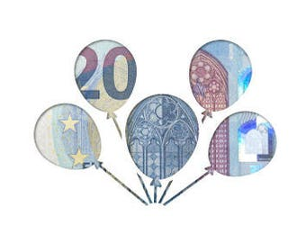 Money gift card balloons