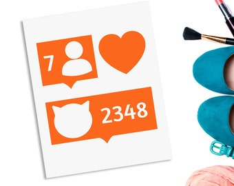 Funny cat download - orange cats - social media - modern wall art - printable cats - studio wall art - orange art printable