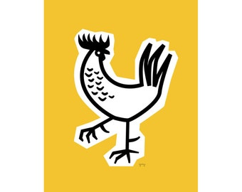Rooster Kitchen Decor, Farmhouse Decor, Retro Kitchen, Rooster Print