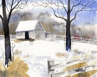Horse Barn-Print