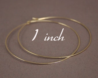 Gold Hoop earrings, 1 inch Gold Hoops, Small Gold Hoops, 14k Gold Filled Hoop Earrings, Hammered Hoops,