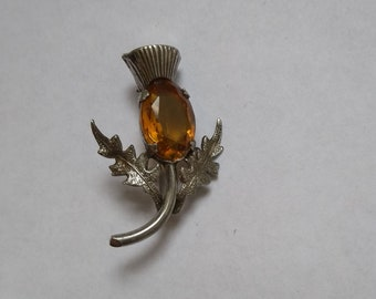 Vintage sterling silver Ward Bros thistle brooch