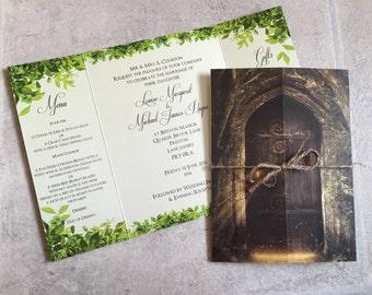 Secret Garden | Woodland | Twine | Gatefold | Wedding Invitations