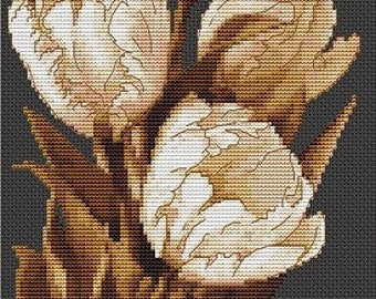 Tulips SB292 - Cross Stitch Kit by Luca-s