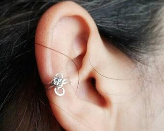 Birthstone Ear Cuff Earring No Piercing Needed
