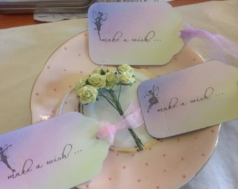 Make A Wish - Fairy Tags - Wedding Etc Wish Tree/Gift/Favour Tags, 10