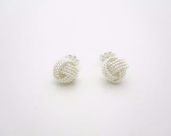 Tiffany & Co. Sterling Silver Twist Knot Stud Earrings