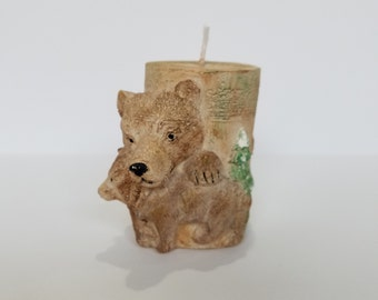 Bear Cylinder Candle