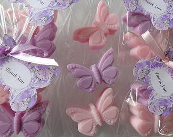 10 Butterfly Favors, 20 Soaps, Spring, Birthdays, Showers, Special Occasion Favors