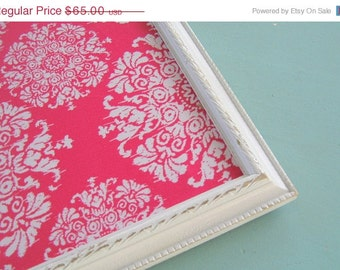 Fathers Day Sale Pink Medallion Magnetic Board Boho Girls Room Wall Decor Office Magnet Board Damask Pattern