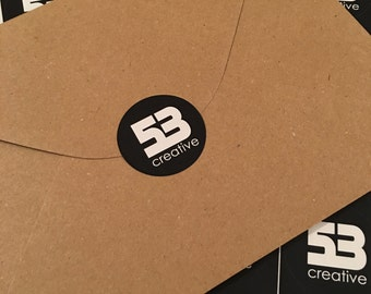 96 Custom, Personalised 40mm Round Satin permanent stickers, labels