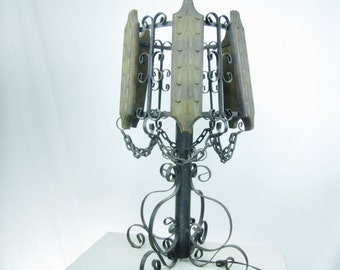 Vintage Wrought Iron Lamp,table Lamp,French Country, Metal Light, Gothic  Lamp