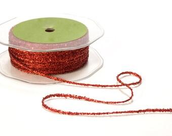 Red String Metallic Ribbon . 5 yards (15 feet)