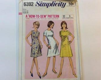 60s Vintage Simplicity dress Pattern Size 12