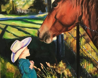 Custom oil painting 8x10