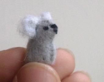 Tiny Koala -- miniature koala felt koala felted koala Australian animals felted koala plush koala stuffed koala land down under