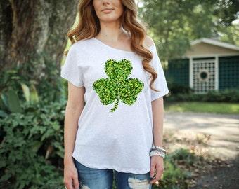 St. Patrick's Day Shamrock Clover Women's Tshirt