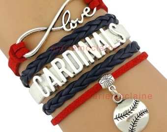 Cardinals Infinity Bracelet