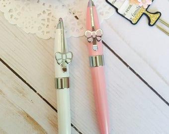 Bow Pen ~ White Pen ~ Pink Pen ~ Planner Pen ~ Girly Pen