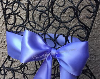 Iris Bridal Satin Sash / Purple Wedding Sash / Bridal Bow / Bridesmaid Ribbon