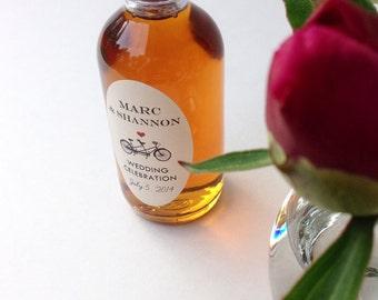 Maple Syrup Wedding Favor--2 oz. Round Bottle, Custom Rustic Wedding Favors