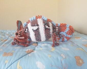 PDF PATTERN ONLY Orange Veiled Chameleon Plush Crochet Pattern