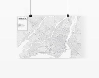 Montreal, Canada City Map