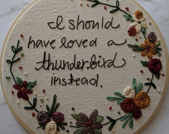 Mad Girl's Love Song- Sylvia Plath inspired hand embroidery