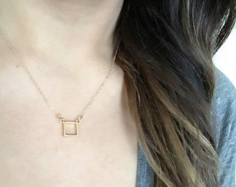 Open Square Necklace