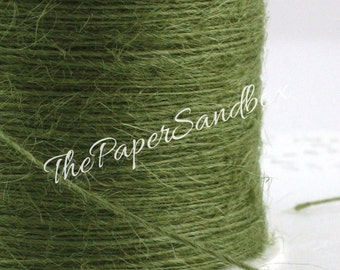 Olive Green Burlap Twine String, Gift Wrapping, Crafts, Green Bakers Twine, Christmas Ribbon, Party Supplies, Jewelry Supplies, Bakers Twine